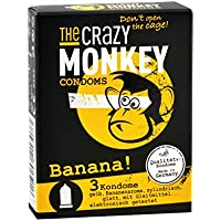 The Crazy Monkey Condoms Banana, 3er Packung preisvergleich bei billige-tabletten.eu