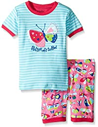 Hatley 100% Organic Cotton Short Sleeve Appliqué Pyjama Set, Conjuntos de Pijama para Niños