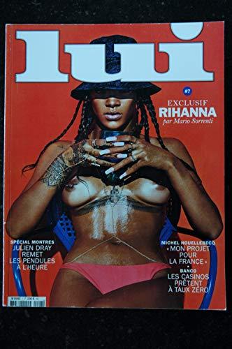 LUI 007 N° 7 COVER RIHANNA NUE PAR MARIO SORRENTI PHOTOGRAPHY CHARME MARK SEGAL OLIVIER ZAHM