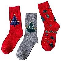 ☺HWTOP Sportsocken Weihnachten Unisex Hohe Socken Blickdicht Sneaker Socken Damen & Herren & Jungen & Mädchensocken Karikatur Tierbaumwollsocken Premium Fußball Socken Baumwollsocken 3 Paar