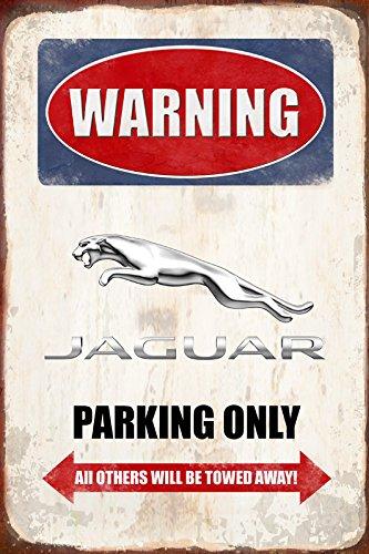 Warning Jaguar Parking only park schild tin sign schild aus blech garage