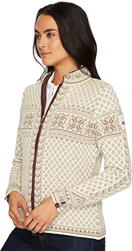Dale of Norway Damen Sunniva Feminine Jacket Offwhite/Warm taupe