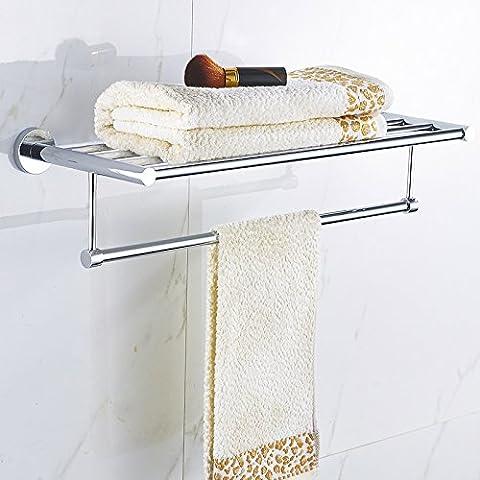 Porte-serviettes sans serviette trou de toilette en aluminium de serviette de cintre crochet simple levier double porte-serviettes plus longue étagère