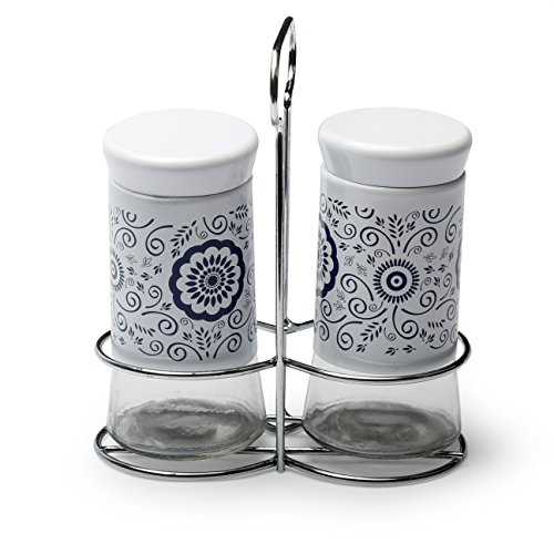 @home by Nilkamal Multicolor Glass Salt & Pepper Set  available at amazon for Rs.267