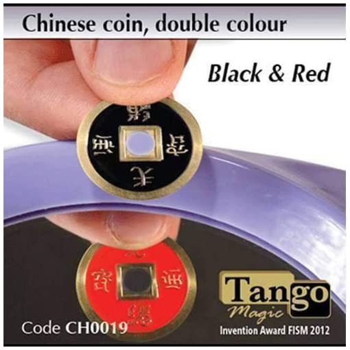 Chinese-Coin-Black-Red-by-Tango-Magic-Magie-mit-Tuch-Zaubertricks-und-Magie SOLOMAGIA Chinese Coin Black & Red by Tango Magic – Magie mit Tuch – Zaubertricks und Magie -