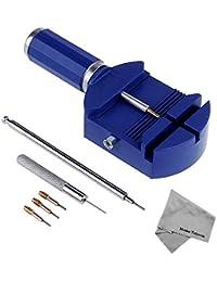 MMOBIEL Kit de herramientas ajustables para remover perno de correa de reloj. Herramienta para relojeros con 3x empujadores de pernos extra, 1 x Empujador de resorte, 1 x punzón de acero