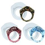 musykrafties Boho Kunstharz Ring Silikonform für Liquid Clay, Harz, Epoxy, Schmuckherstellung flach Facet Diamond Flat 17mm 16.6mm 16mm Ring Size 13-14 12-13 10-11