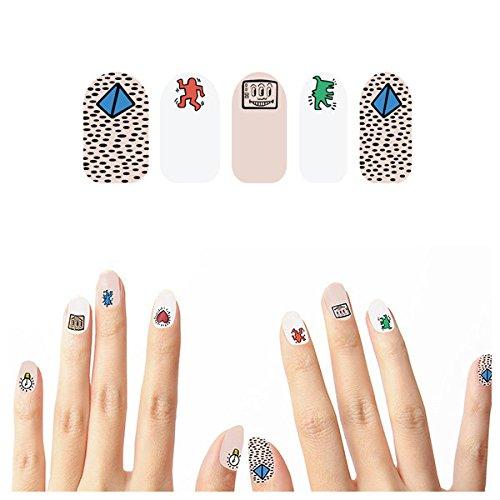 Tattify Autocollants Pour Ongles Graffiti - Rien N'Est Important (Set de 22)