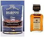 (GD) Graviert/personalisiert DISARONNO Design Glas Tumbler + Miniatur Geschenk für Geburtstag/Weihnachten/Mum/Dad