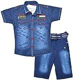 Kids Era Baby Boys' Half Sleeve Shirt And Capri Set (3157red, Red, )