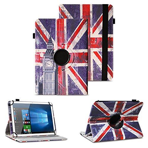 NAUC Asus ZenPad 10 Z300M Z301ML Z301MFL Tablet Schutzhülle Hülle Tasche Standfunktion 360° Drehbar aus Kunst-Leder Cover Universal Case, Farben:Motiv 10