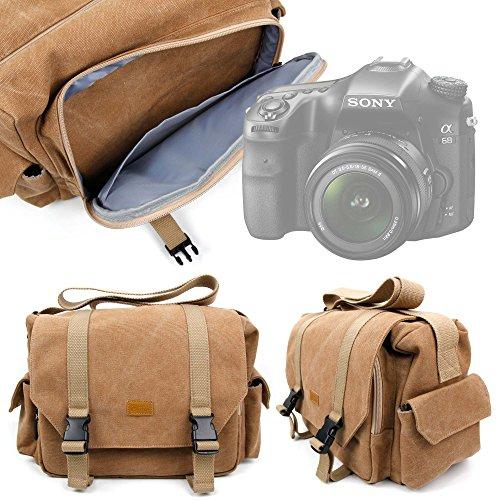 Galleria fotografica DURAGADGET Borsa Professionale Canvas Per Fotocamera Sony Alpha 68 | Kodak PIXPRO AZ365 - Con Tracolla Regolabile E Numerosi Scomparti