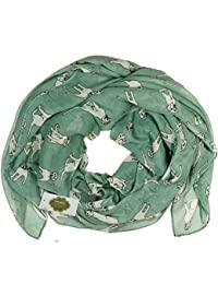 New with Tags Labrador Dogs Print Design Women's Scarves Large Scarfs Shawl (Sea green)