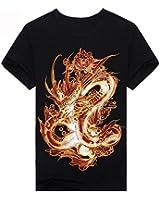 reine à la mode- Homme 3D T-shirt des animaux imprimé - Manche Courte
