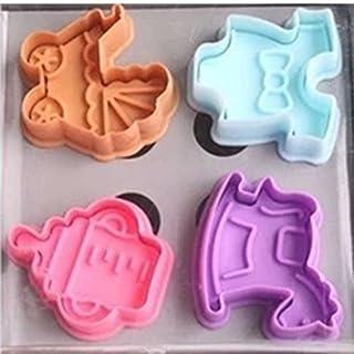 achievess (TM) 1Set 3D Baby Dusche Hand drücken Stempel Biscuit Cookie Plunger Cutter Form
