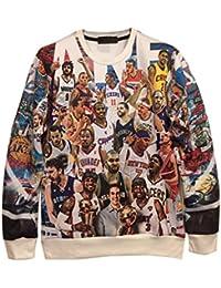Demarkt Fashion Homme Sweat-shirts/Sweat/ Sweatshirt sans Capuche avec 3D Image Individualisé M / L/ XL