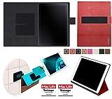 reboon Hülle für Samsung Galaxy Book 10.6 (LTE) Tasche Cover Case Bumper | in Rot Leder | Testsieger