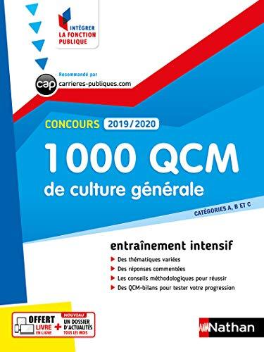 1000 QCM de culture générale - Concours 2019-2020 (Catégories A, B et C) par Pascal Joly