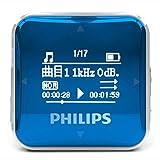 Philips SA2208 - Reproductor de música MP3 Digital con Pantalla de 8 GB DE 0,9 Pulgadas, grabadora sin pérdidas, Cable USB