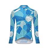Uglyfrog Sport im Freien Klassik Polyester Fahrradtrikot Winter Damen Thermal Fleece Langarmtrikot Radfahren Jersey Triathlon Bekleidung