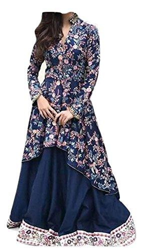 HK Textile womens designer blue bollywood style salwar suit