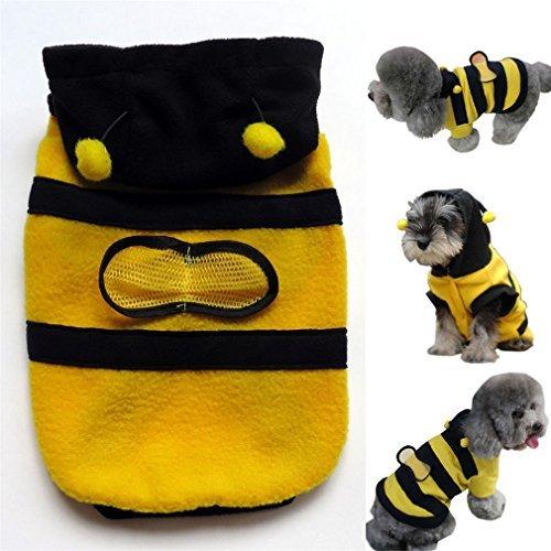 Arpoador Pet Hoodie Kleidung Cute Bee Puppy Apparel Kostüm Katze Hundemantel-Outfit, Größe L