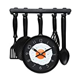 """#10: Lifestyle-You Wall Clock """"Omlette Frying Pan"""" Design for Kitchen. Nice For Self Use or For Gifting."""