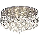 LED Modern Deckenleuchte Kristall Romantisch Kronleuchter Deckenlampe Dimmbar mit Fernbedienung Wohnraumleuchten für Schlafzimmer Wohnzimmer Studiolampe Esszimmer Deckenbeleuchtungen 230V, Ø40cm