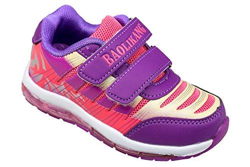 Velcro Sapatos 36 Gibra® Rosa Roxo Gr Roxo Crianças Rosa Desportivos 25 q5tF8wxg7