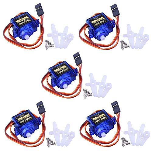 Longruner SG90 Micro Servo Motor 9G RC Robot Helicopter Airplane Boat Controls KY66-5 (Servo)