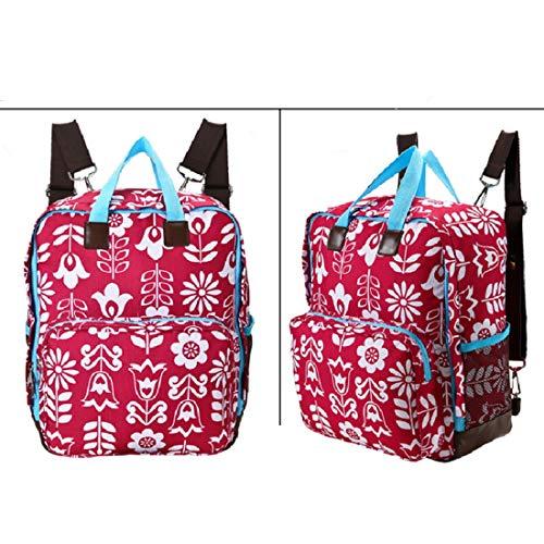 Haxibkena Windelrucksack für Mama Einkaufstasche Wickeltasche Windeltaschen Große Kapazität Babywindeltasche (Color : Owl)