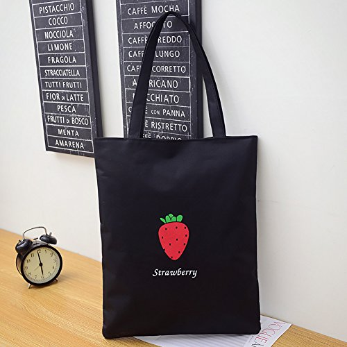sundatebe, Borsa tote donna White Banana taglia unica Black Strawberry