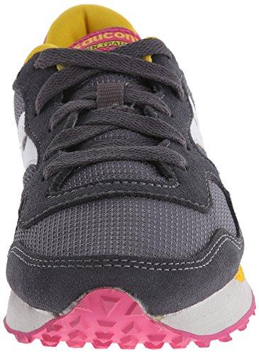 Saucony Originals Damen Dxn Trainer W Sneaker, Grau carbon/rosa