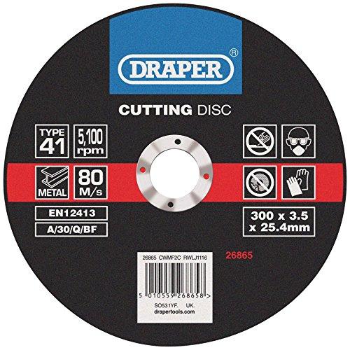 Draper 26865 flat metal cutting discs (300 x 2.8 x 25.4mm)