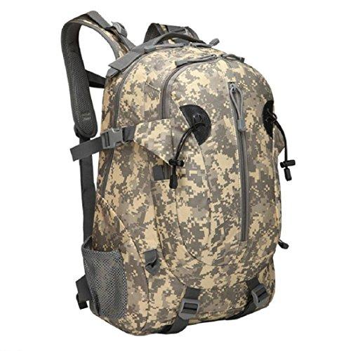 LF&F Backpack Camping outdoor Zaini Borse Camminare Alpinismo Sport all'aria aperta Spalline Camuffamento Oxford Tessuto Nastrato Nastro Durable Tear Nylon Tessuto Tattico Zaino E 33.3L E
