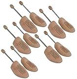 DELFA Holz Spiralfeder Schuhspanner (Set von 5 Paar)