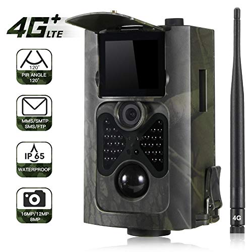 QUARKJK 4G MMS Trail Camera Jagd Wildlife Cameras Foto Video Waterproof 16MP 1080P Night Version Wild Tracking Cam