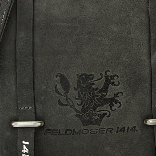 Feldmoser 1414 Morgan Tracolla In Pelle 19 Cm Grigio