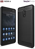 WOW Imagine( Soft Silicone All Sides Protection Shockproof Slim Back Case Cover For Nokia 6 - Pitch Black