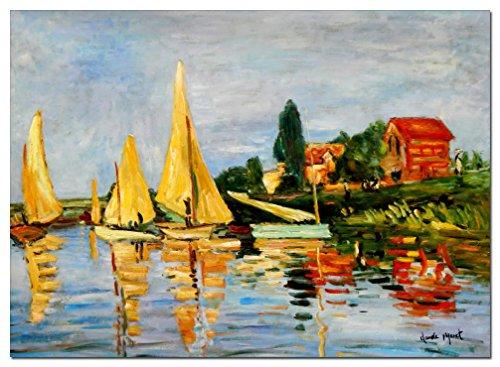 elOleo Claude Monet - Regatta bei Argenteuil 80x110 Gemälde auf Leinwand handgemalt 87776A - Claude Monet-regatta Bei Argenteuil