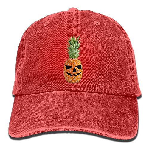 (Men&Women Halloween Pumpkin Pineapple Classic Washed Dyed Cotton Solid Color Baseball Hat One Size)