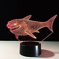 kiss me Illusion 3D Lampe Acryl Hai mit USB-Schnittstelle mit LED-Licht Farbe ändern automatisch verschiedene... preisvergleich bei billige-tabletten.eu