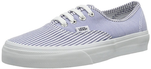 Vans U Authentic, Baskets mode mixte adulte Bleu (Multi Stripes)