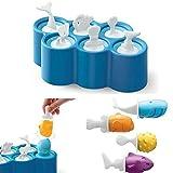 AOLVO Moldes de Amapolas, moldes de Palo de Pescado sin BPA, Lavables, Reutilizables, 100% Silicona de Grado alimenticio