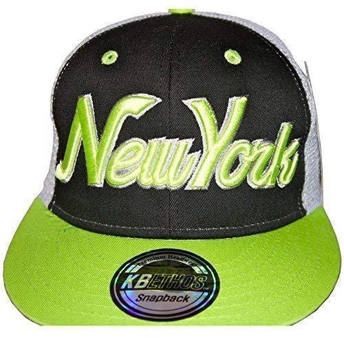 KB Ethos New York Camionneur Casquettes Snapback, Bling BORDURE NY Visière Plate Baseball ajusté Chapeaux