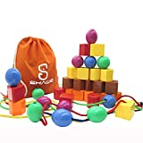 Best Gifts For A 2 Year Olds - JUMBO PRIMARY STRINGING BEAD SET by SHAWE Review