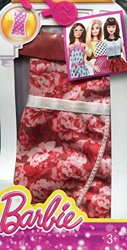 Barbie Fashion Dress - Red Floral Designer Dress (Fashion-designer Barbie)
