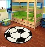Fußball Kinderteppich rund