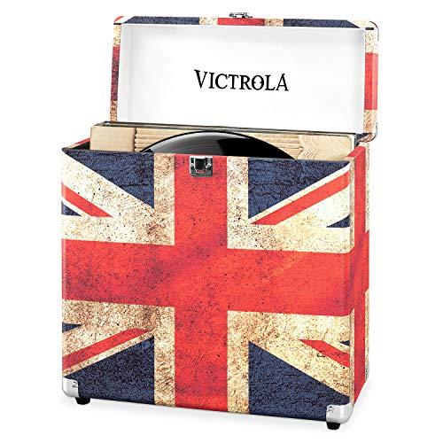 #05 Victrola Custodia Valigia porta vinili 30+ pezzi LP - UK Flag
