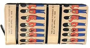FreshGadgetz 1 Ensemble de Sac à main Portefeuille femme avec fermeture éclair gardes royal Beige